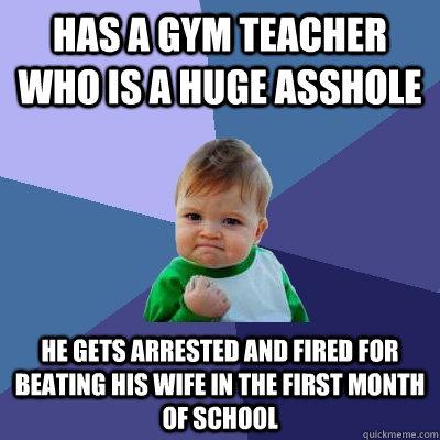 teacher captions Gym