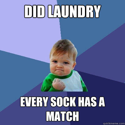 Did Laundry every sock has a match - Did Laundry every sock has a match  Success Kid
