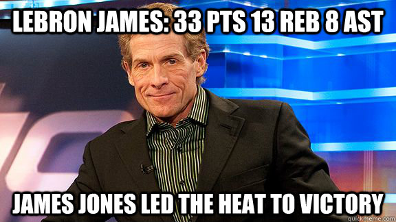Lebron James 33 Pts 13 Reb 8 Ast James Jones Led The Heat To