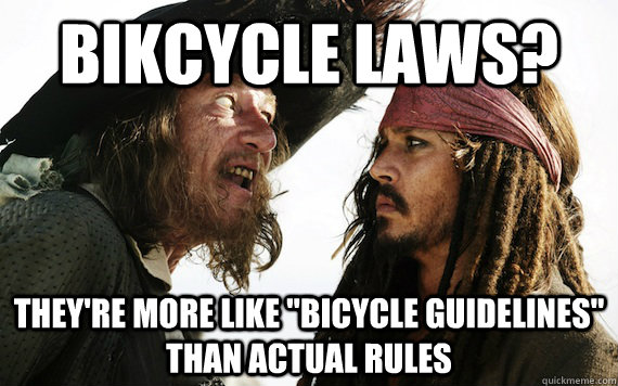 Bikcycle laws? They're more like