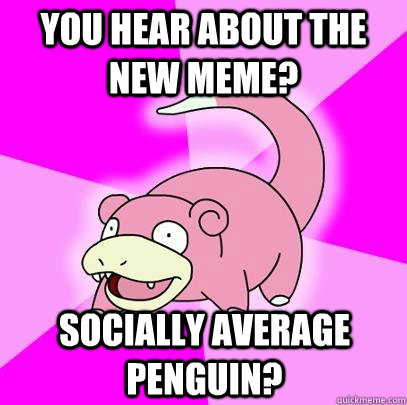 You Hear about the new meme? Socially Average Penguin? - You Hear about the new meme? Socially Average Penguin?  Slowpoke