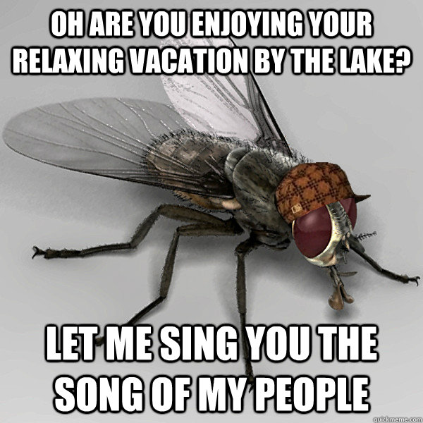 oh are you enjoying your relaxing vacation by the lake? let me sing you the song of my people