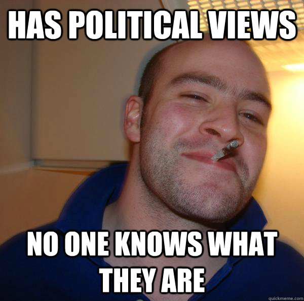has political views no one knows what they are - has political views no one knows what they are  Misc