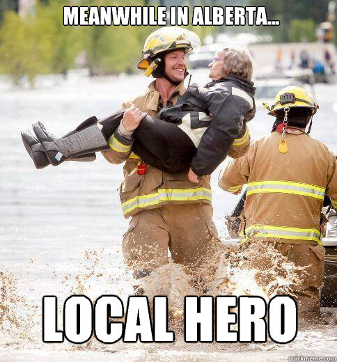 Meanwhile in Alberta... Local hero