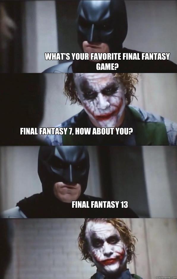 5e50884d538bfe450d7bb5148e50f5ec847dc5d699134ec8d0d87f1cacc32c24 what's your favorite final fantasy game? final fantasy 7, how