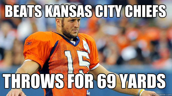 Beats Kansas City chiefs throws for 69 yards