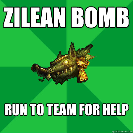 Zilean bomb Run to team for help