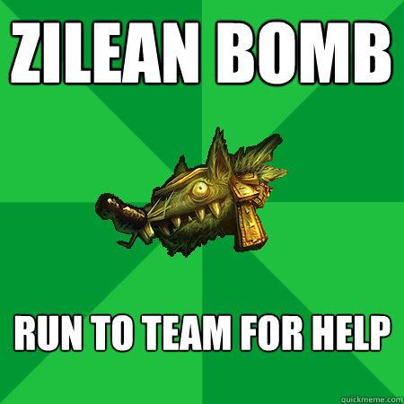 Zilean bomb Run to team for help  - Zilean bomb Run to team for help   Bad LoL Player