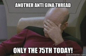 Another anti Gina Thread Only the 75th today!