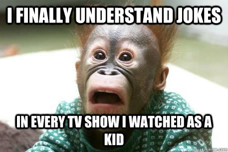 I finally understand jokes in every tv show i watched as a kid  Sudden realization