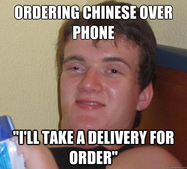 Ordering chinese over phone