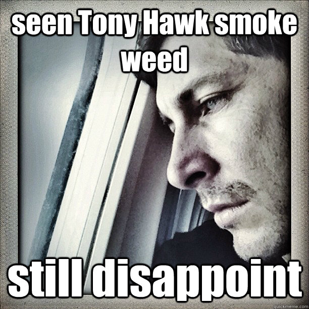 seen Tony Hawk smoke weed still disappoint