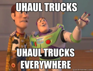 Uhaul trucks UHaul trucks everywhere