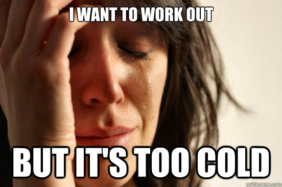 Image result for cold workout meme