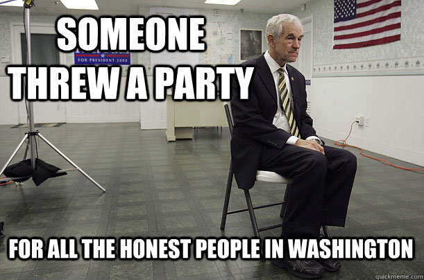 Someone threw a party for all the honest people in Washington