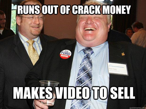 RUNS OUT OF CRACK MONEY MAKES VIDEO TO SELL