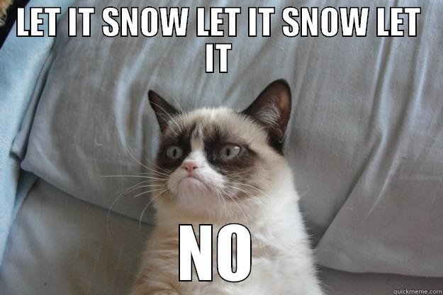LET IT SNOW LET IT SNOW LET IT NO Grumpy Cat