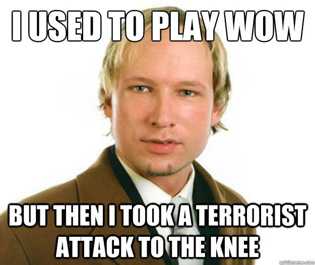 I used to play wow But then i took a terrorist attack to the knee