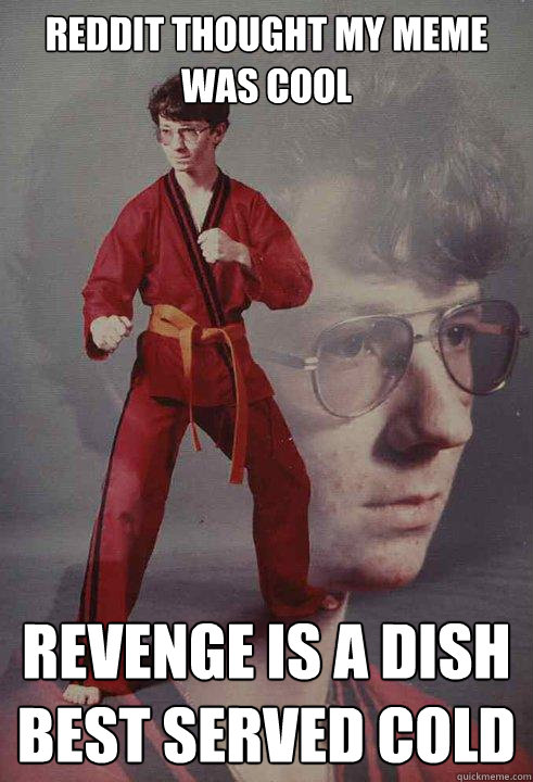 Reddit thought my meme was cool Revenge is a dish best served cold - Reddit thought my meme was cool Revenge is a dish best served cold  Karate Kyle