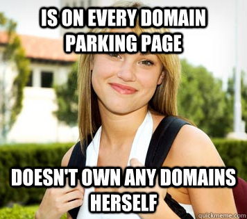 The old way of domain parking