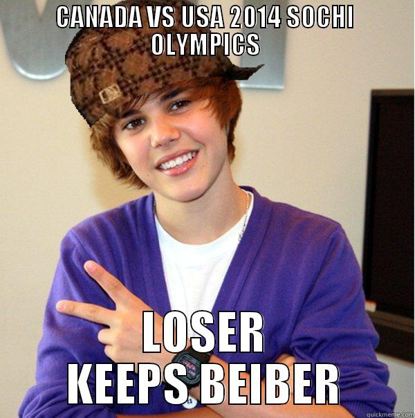 CANADA VS USA 2014 SOCHI OLYMPICS LOSER KEEPS BEIBER Scumbag Beiber