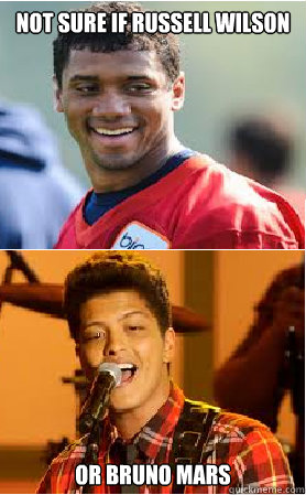 Not sure if Russell Wilson Or Bruno mars