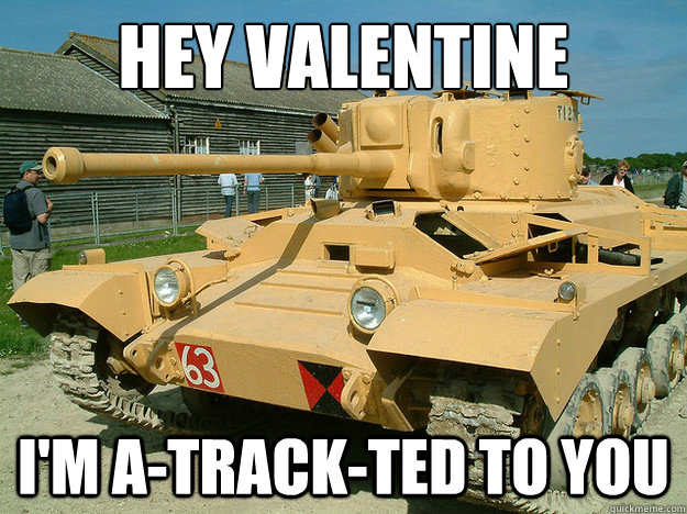 Hey valentine I'm A-TRACK-ted to you - Hey valentine I'm A-TRACK-ted to you  Misc