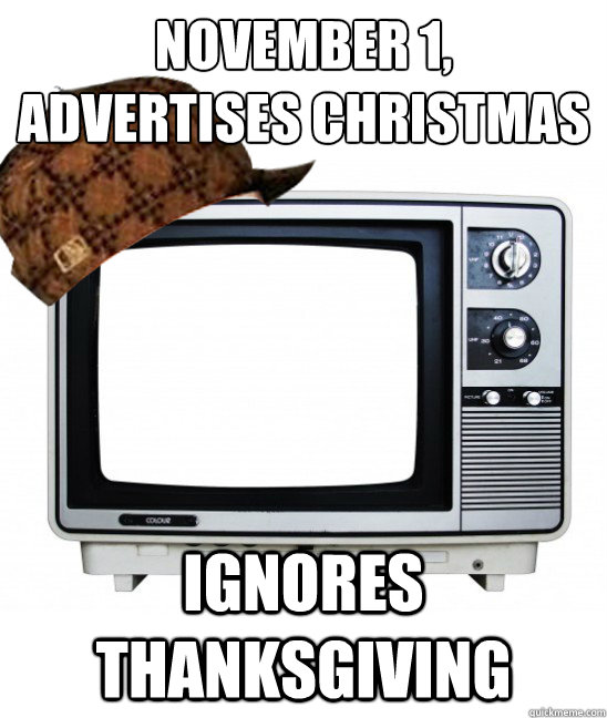 November 1, Advertises Christmas Ignores Thanksgiving