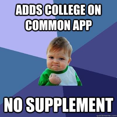 Common app supplement essays