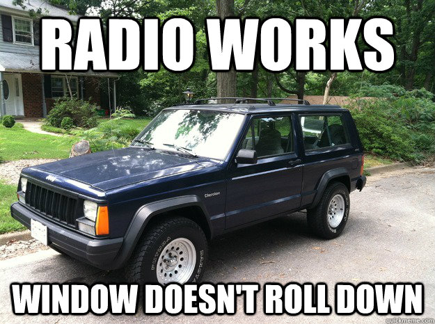 radio works window doesn't roll down