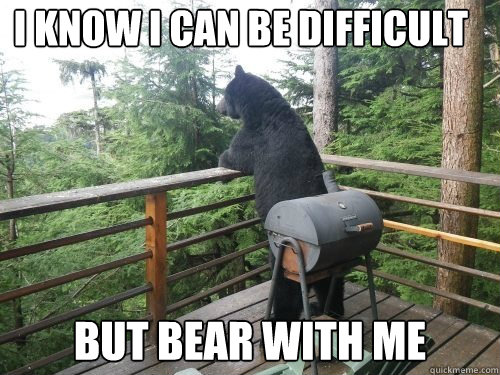 I KNOW I CAN BE DIFFICULT BUT BEAR WITH ME - I KNOW I CAN BE DIFFICULT BUT BEAR WITH ME  Misc