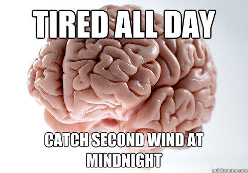 Tired All Day Catch Second Wind at Mindnight - Tired All Day Catch Second Wind at Mindnight  Scumbag Brain