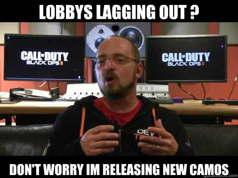 lobbys lagging out ? don't worry im releasing new camos