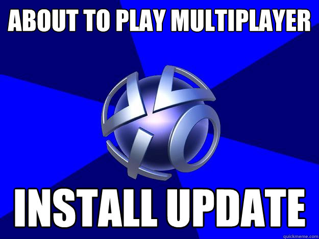 about to play multiplayer install update