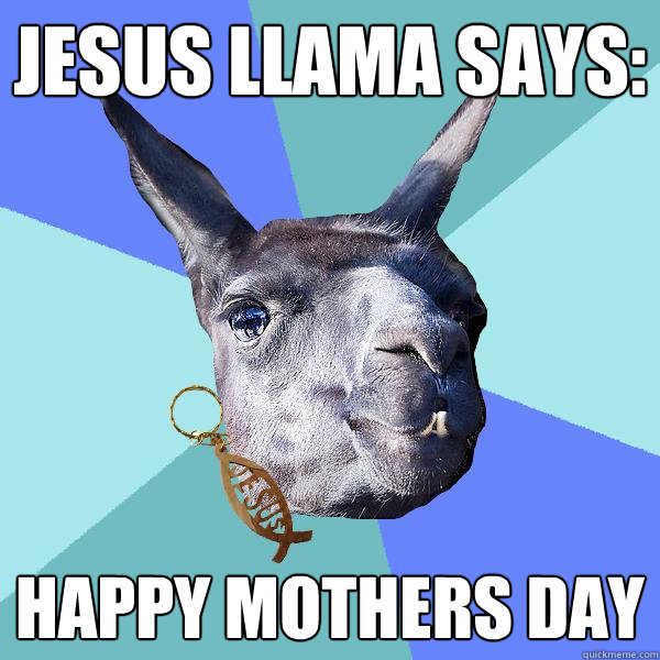 Jesus Llama Says: Happy Mothers Day - Jesus Llama Says: Happy Mothers Day  Christian Mama Llama