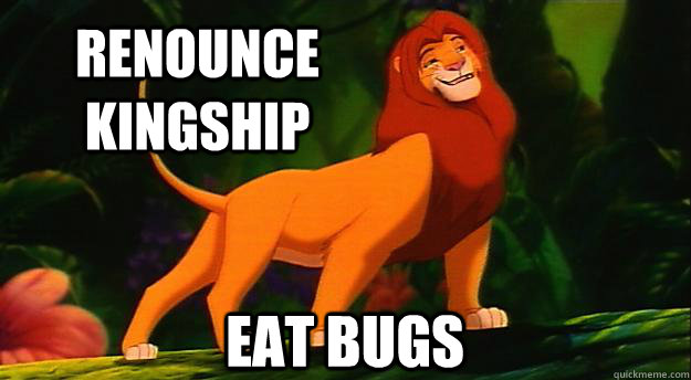 Renounce Kingship Eat Bugs - Renounce Kingship Eat Bugs  Disney Logic
