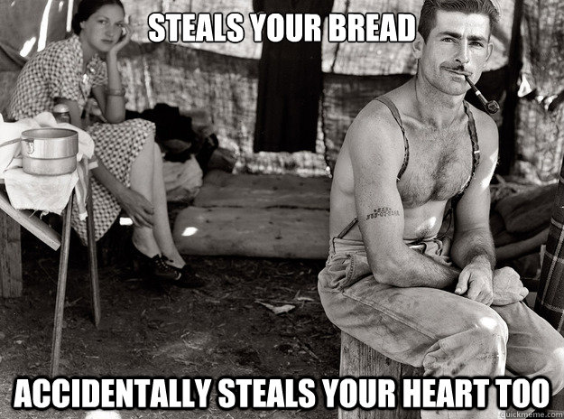 steals your bread accidentally steals your heart too - steals your bread accidentally steals your heart too  Misc