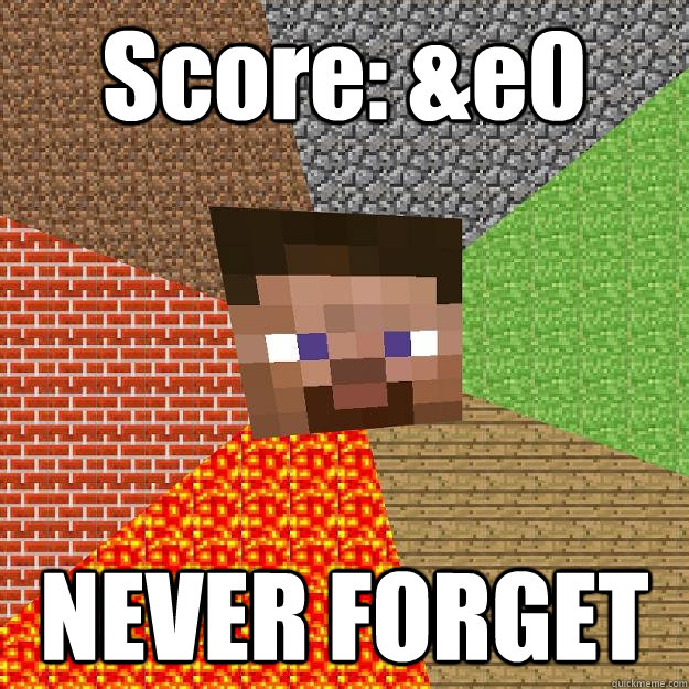 Score: &e0 NEVER FORGET - Score: &e0 NEVER FORGET  Minecraft