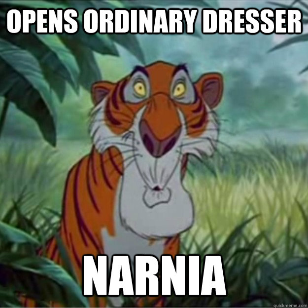 Opens ordinary dresser narnia - Opens ordinary dresser narnia  Shere Khan Stumbles Upon