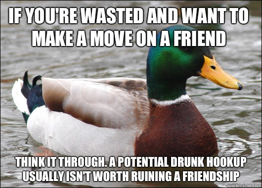 drunk hookup with friend