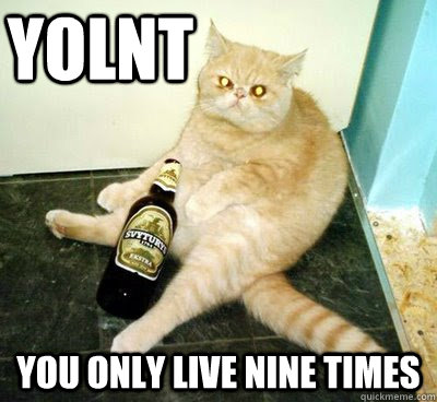 yolnt you only live nine times  YOLNT