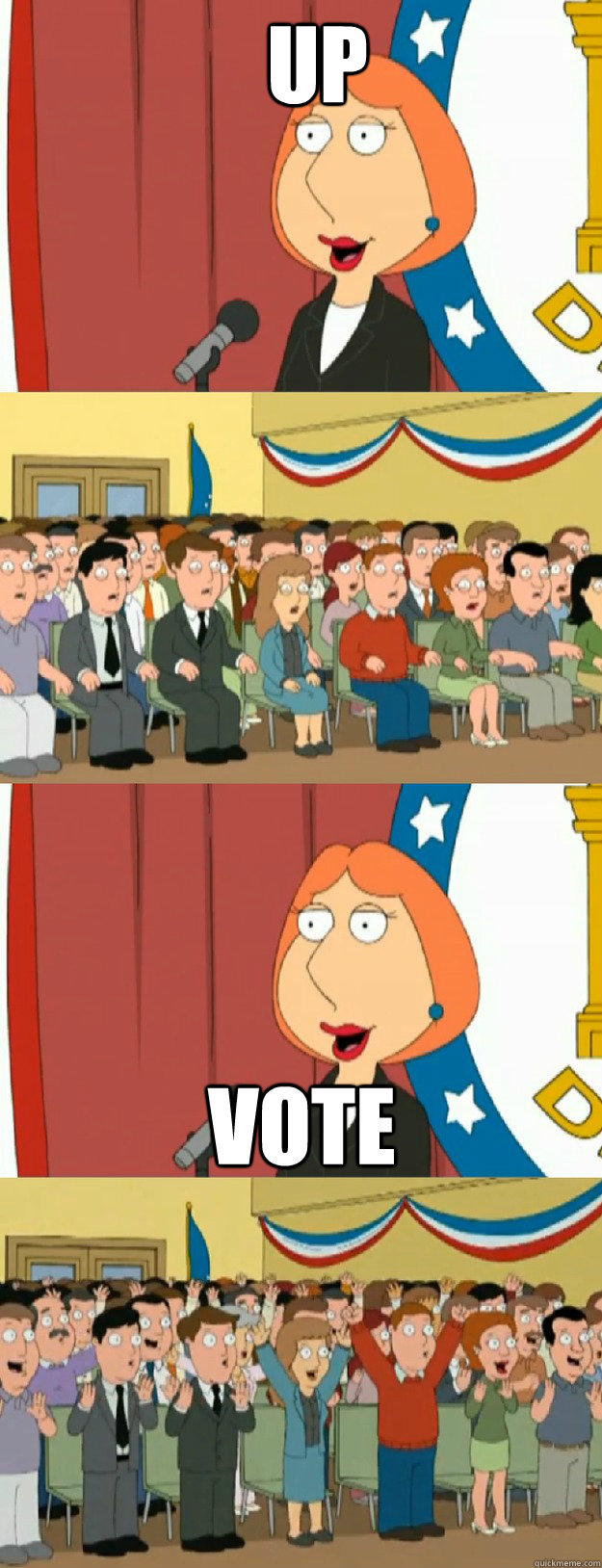 Up vote - Up vote  Lois Griffin