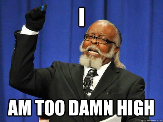 I am too damn high