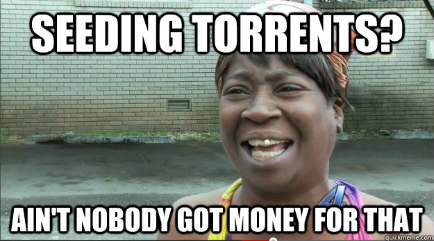 Seeding torrents?