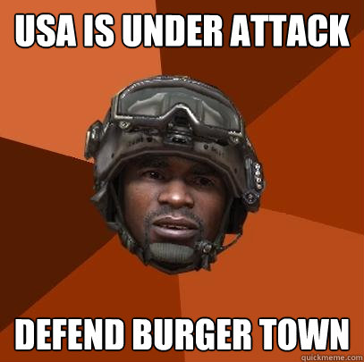 usa is under attack defend burger town