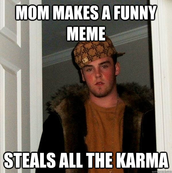 Mom Makes a funny meme steals all the karma - Mom Makes a funny meme steals all the karma  Scumbag Steve
