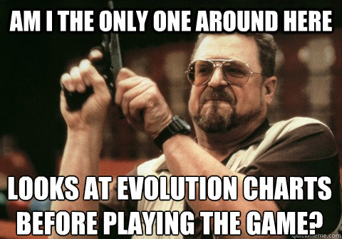Am I the only one around here Looks at evolution charts before playing the game? - Am I the only one around here Looks at evolution charts before playing the game?  Am I the only one