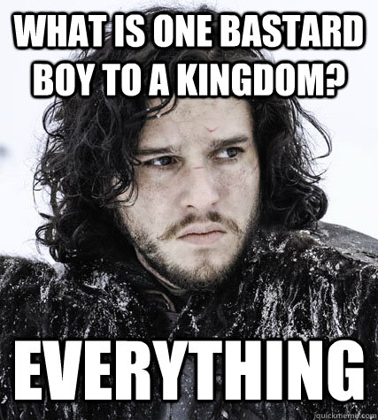 What is one bastard boy to a kingdom? everything