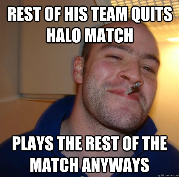 Rest of his team quits halo match plays the rest of the match anyways - Rest of his team quits halo match plays the rest of the match anyways  Misc