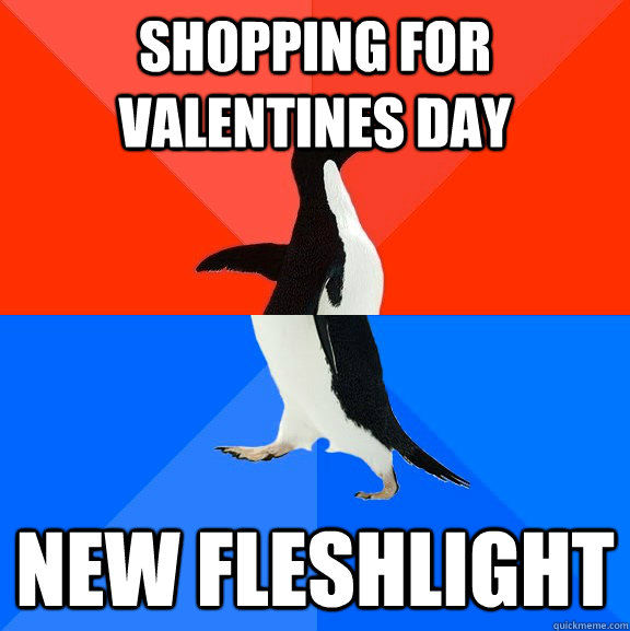Shopping for Valentines day new fleshlight - Shopping for Valentines day new fleshlight  Socially Awesome Awkward Penguin